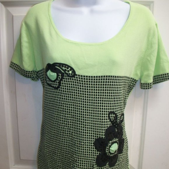 Moffi Pale Green Shirt Size Large